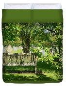 Graveyard Bench Duvet Cover