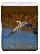 Great Blue Fly Away Duvet Cover by Tom Claud