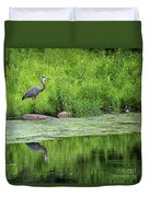 Great Blue Heron Square Duvet Cover