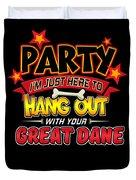Great Dane Dog Party Duvet Cover