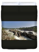 Great Falls On The Potomac Panorama  Duvet Cover