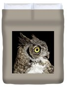 Great-horned Owl Duvet Cover