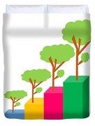 Green Economy Investment Concept Duvet Cover