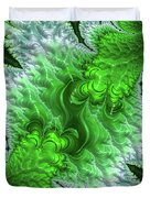 Green Frosty Canyon Duvet Cover