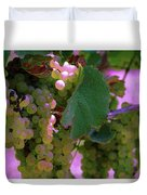 Green Grapes On The Vine 12 Duvet Cover