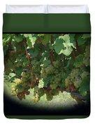 Green Grapes On The Vine 16 Duvet Cover