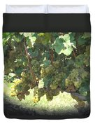 Green Grapes On The Vine 17 Duvet Cover