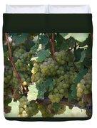 Green Grapes On The Vine 18 Duvet Cover