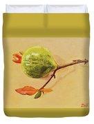 Green Pomegranate Duvet Cover