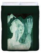 Green Portrait Duvet Cover
