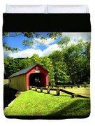Green River Covered Bridge Duvet Cover