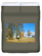Greenknowe Tower In Late Winter Sun Scottish Borders Duvet Cover