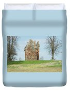 Greenknowe Tower Ruin Duvet Cover