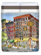 Greenwich Village Laundromat Duvet Cover
