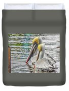 Greeting Party Duvet Cover