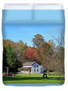 Gregg Cable House In Cades Cove Historic Area Of The Smoky Mountains Duvet Cover