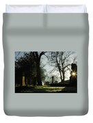 Greyfriars Churchyard In Winters Sun Duvet Cover