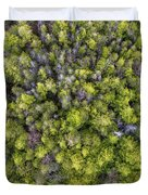 Grove Of Pines Aerial Duvet Cover