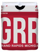 Grr Grand Rapids Luggage Tag II Duvet Cover