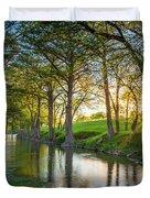 Guadalupe River Sunset Duvet Cover