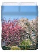 Springtime At Untermyer Park Duvet Cover