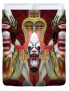 Halloween Scary Clown Heads Mirrored Duvet Cover