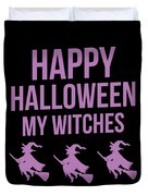 Halloween Shirt Happy Halloween Witches Gift Tee Duvet Cover