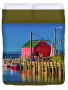 Halls Harbour Nova Scotia Duvet Cover