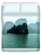 Halong Bay Mountains, Vietnam Duvet Cover