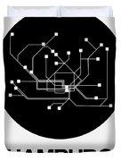 Hamburg Black Subway Map Duvet Cover