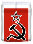 Hammer And Sickle Grunge Duvet Cover