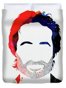 Hank Moody Watercolor Duvet Cover
