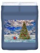 Happy Christmas Parrot Duvet Cover