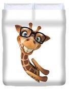 Happy Giraffe Duvet Cover