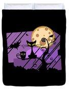 Happy Halloween Cat Duvet Cover