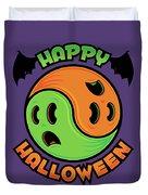 Happy Halloween Ghost Yin-yang Duvet Cover