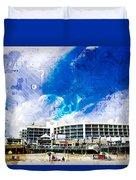 Hard Rock Beach Abstract Duvet Cover