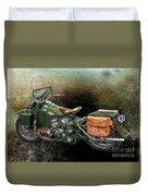 Harley Davidson 1942 Experimental Army Duvet Cover