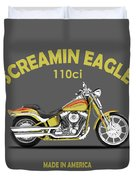 Harley Fxstsse Screamin Eagle Duvet Cover