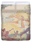 Harmonious Times By Signac Duvet Cover