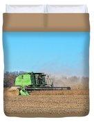 Harvesting Soybeans Duvet Cover