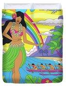 Hawaii Poster - Pop Art - Travel Duvet Cover