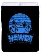 Hawaii Sunset Beach Vacation Paradise Island Blue Duvet Cover