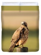 Hawk On The Edge Of A Field Duvet Cover