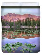 Hayden Peak And Butterfly Lake, Uinta Duvet Cover