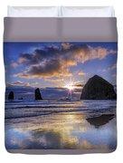Haystack Sunset Duvet Cover