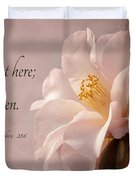 He Is Risen Duvet Cover by Mary Jo Allen