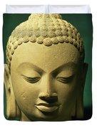 Head Of The Buddha, Sarnath Duvet Cover