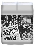 Headline Declaring The End Of Prohibition, 6th December, 1933 Duvet Cover