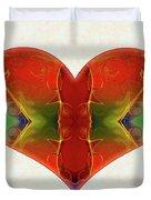 Heart Painting - Vibrant Dreams - Omaste Witkowski Duvet Cover by Omaste Witkowski